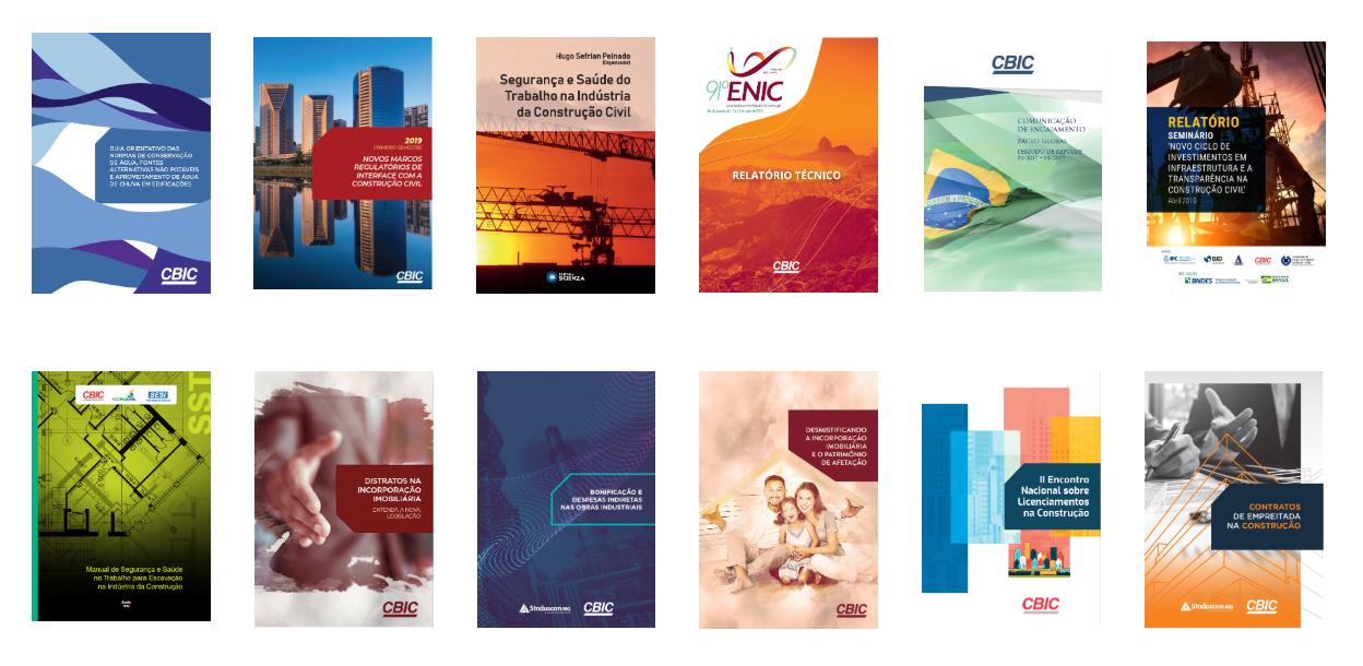 Câmara Brasileira da Indústria da Construção disponibilizou guias, cartilhas, relatórios e manuais ao longo de 2019