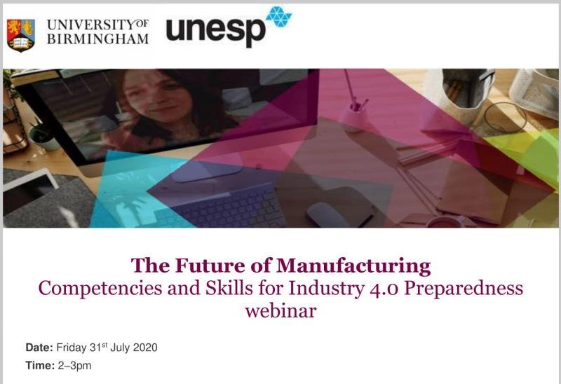 Webinar Internacional discutirá as competências e habilidades para a Indústria 4.0