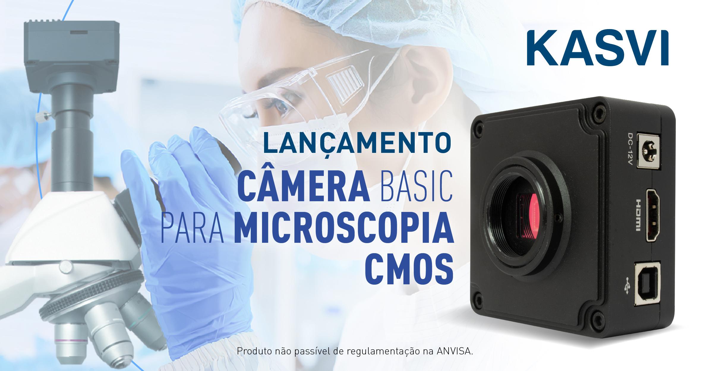Lab de A a Z: LançamentoCâmera Basic para Microscopia CMOS
